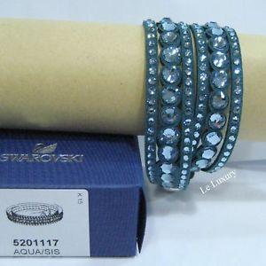 【送料無料】ブレスレット アクセサリ― スワロフスキーアクアドットブレスレットswarovski slake aqua dot bracelet, crystal authentic mib 5201117