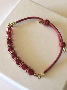 【送料無料】ブレスレット アクセサリ― スワロフスキークリスタルブレスレットルビーレッドゴールドswarovski crystal friendship bracelet, ruby redgold
