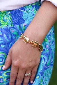 【送料無料】ブレスレット アクセサリ― ピューリッツァーエレファントブレスレットnwt lilly pulitzer elephant bracelet