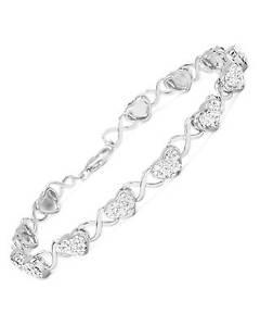 【送料無料】ブレスレット アクセサリ― ハートブレスレットホワイトエナメルクリスタルスターリングシルバーlovely heart bracelet wgenuine crystal in white enamel amp; 925 sterling silver