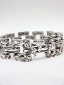 【送料無料】ブレスレット アクセサリ― ジュディススターリングシルバーリンクチェーンブレスレットサイズjudith ripka 925 sterling silver large link chain bracelet qvc size