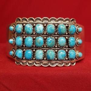 【送料無料】ブレスレット アクセサリ― ターコイズブレスレットシルバーturquoise silverstone bracelet 925 silver 637g ss1045939