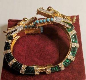 【送料無料】ブレスレット アクセサリ― ビンテージケネスジェイレーンドラゴンカフブレスレットvintage signed kenneth jay lane double headed dragon cuff bracelet nos