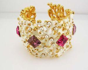 【送料無料】ブレスレット アクセサリ― ケネスジェイレーンラカフヒンジブレスレットワイドkenneth jay lane la cuff hinged bracelet average  2 wide  nla