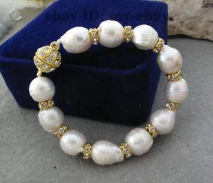 【送料無料】ブレスレット アクセサリ― バロックブレスレットマグネットクリスタルunusual white baroque keshi keishi freshwater pearl bracelet magnet crystal