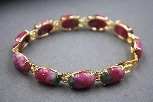 【送料無料】ブレスレット アクセサリ― ファッショングランプリオーバルリンクブレスレットインチ fashion gp alloy red jade womens oval link bracelet 7inch