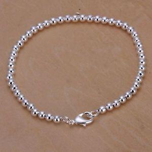 【送料無料】ブレスレット アクセサリ― プラークアルジェントブレスレットメタルブレスレットas fr37494 plaque argent 925 bijoux 4 mm bean bracelet h198 en metal bracelets
