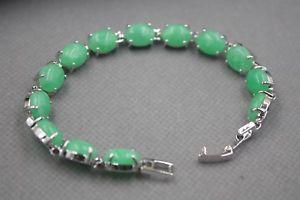 【送料無料】ブレスレット アクセサリ― gpリンク748ブレスレットポンドfashion gp alloy green jade womens ellipse link bracelet 748l