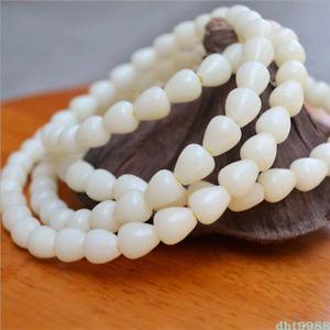 【送料無料】ブレスレット アクセサリ― シードビーズブレスレットwater drops white jade bodhi seed 108 buddhism bead bracelet