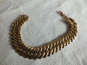 【送料無料】ブレスレット アクセサリ― クラスプブレスレットゴールドトーンリンクワウbeautiful collectible clasp bracelet gold tone links 58 wide x 7 14 long wow