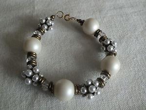 【送料無料】ブレスレット アクセサリ― 148beautifuホワイトnicebeautifu clasp bracelet gold tone white white chunky beads 8 14 long nice