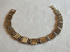 【送料無料】ブレスレット アクセサリ― ブレスレットクラスプゴールドトーンリンクワイドニースbeautiful bracelet clasp gold tone textured links 7 12 long x 12 wide nice