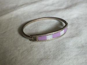 【送料無料】ブレスレット アクセサリ― ピンク2 14 x 38ブレスレットシルバーnicbeautiful clasp bracelet silver tone pink white insets 2 14 x 38 inch wide nic