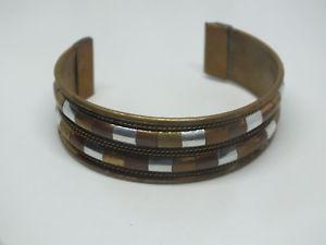 【送料無料】ブレスレット アクセサリ― カフブレスレットトーンゴールドトーンカッパートーンユニークデザインbeautiful cuff bracelet brass tone gold tone copper tone design unique 78 wide