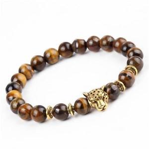 【送料無料】ブレスレット アクセサリ― タイガーアイブレスレットleopard tigers eye bracelet
