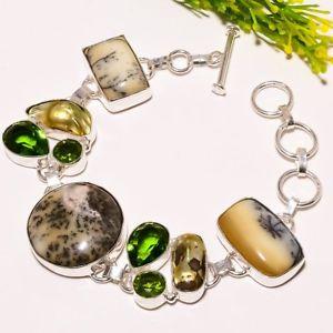 【送料無料】ブレスレット アクセサリ― オパールペリドットハンドメイドファッションジュエリーブレスレットdendrite opal peridot gemstone handmade fashion jewelry bracelet sb1795