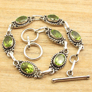 【送料無料】ブレスレット アクセサリ― グリーンペリドットインチブレスレットeveryday wear 925 silver plated green peridot 7 gemset 79 inch bracelet