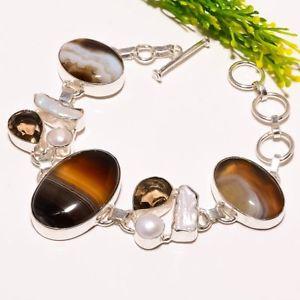 送料無料 ブレスレット アクセサリ― スモーキートパーズハンドメイドファッションジュエリーブレスレットsardonyx smoky topaz gemstone handmade fashion jewelry bracelet sb1779gb6v7fYy