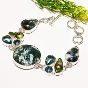 【送料無料】ブレスレット アクセサリ― ツリーハンドメイドファッションジュエリーブレスレットtree agate biwa pearl gemstone handmade fashion jewelry bracelet sb1756