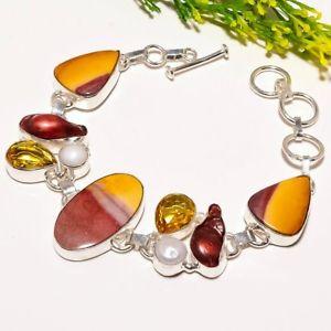 【送料無料】ブレスレット アクセサリ― ハンドメイドファッションジュエリーブレスレットmookaite river pearl gemstone handmade fashion jewelry bracelet sb1715