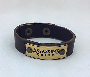 【送料無料】ブレスレット アクセサリ― ブレスレットラップ assassins creed leather bracelet jewelry wrist wrap, genuine leather