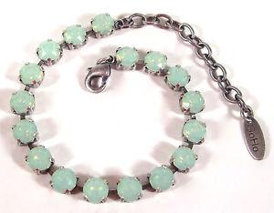 【送料無料】イタリアン ブレスレット オパールブラウンカフsoho bracciale con cristalli levigati 6mm ss29 crystal chrysolite opal marrone