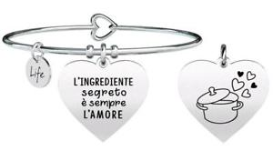 【送料無料】イタリアン ブレスレット ブレスレットスチールフリータイムレシピkidult bracciali acciaio free time cuore ricetta 731318