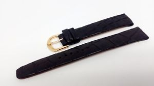 【送料無料】イタリアン ブレスレット ブレスレットクロコダイルノワールbracelet montre en 17mm en crocodile noir