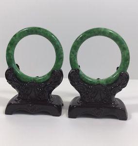 【送料無料】イタリアン ブレスレット ×ナチュラルブレスレットカップルun paio di 100 naturale bracciale in giada verde 57mm*10mm