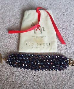 【送料無料】イタリアン ブレスレット テッドベーカービーズブレスレットクリスマス* nuovo ted baker splendido nero glitzy perline braccialetto * l  k ** natale **