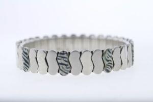 【送料無料】イタリアン ブレスレット ステンレススチールゼブラエナメルブレスレットacciaio inox 12mm stampa zebra smalto braccialetto espandibile