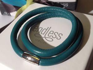 【送料無料】イタリアン ブレスレット カフダブルワイヤーバックルシルバーendless jewelry verde bayoux bracciale doppio filo fibbia in argento 38cm rrp 50