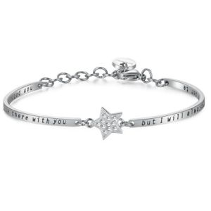 【送料無料】イタリアン ブレスレット ブレスレットチャクラスチールbrosway, bracciale chakra, mod stella zirconata , in acciaio bhk152, nuovo