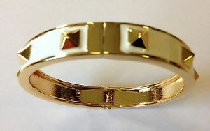 【送料無料】イタリアン ブレスレット ロンドンゴールドスタッドブレスレットブレスレットブランドファッションmikey london bianco amp; gold stud bracciale, braccialetto donna, brand fashion