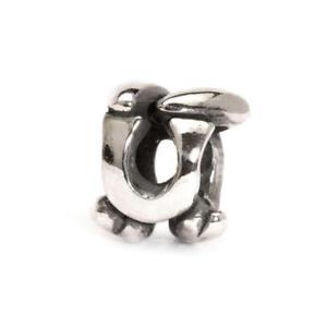 【送料無料】イタリアン ブレスレット シルバービードtrollbeads bead in argento lettera iniziale u tagbe10080