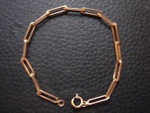 【送料無料】イタリアン ブレスレット ブレスレットビンテージプラークヌフブレスレットtres beau bracelet vintage 1970 plaque or 5 grs neufold bracelet 18 cm