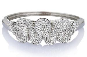 【送料無料】イタリアン ブレスレット スワロフスキークリスタルクリスマスカフカフブレスレットjaneo polsino braccialetto bracciale elementi in cristallo swarovski regalo di natale la sua ve