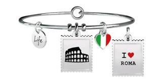 【送料無料】イタリアン ブレスレット ブレスレットスチールフリータイムローマkidult bracciali acciaio free time roma 731236