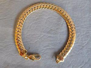 【送料無料】イタリアン ブレスレット ブレスレットグルメプラークゴールデンbracelet gourmette femme fille plaque or jaune maille anglaise golden 8 mm