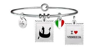 【送料無料】イタリアン ブレスレット ブレスレットスチールヴェニスkidult bracciali acciaio free time venezia 731235