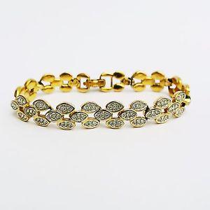 【送料無料】イタリアン ブレスレット スワロフスキーゴールドトーンカフswarovski tono oro firmati cristallistrass bracciale