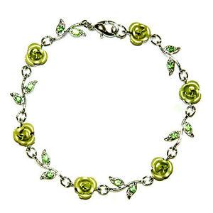 【送料無料】イタリアン ブレスレット アイルランドスワロフスキークリスタルピンクverde irlandese sposa matrimonio w cristallo swarovski ~ fiore rosa floreale