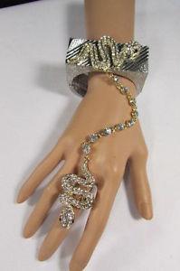 【送料無料】イタリアン ブレスレット シルバーゴールドブレスレットファッションスネークnuovo da donna argento oro spesso metallo braccialetto moda serpente