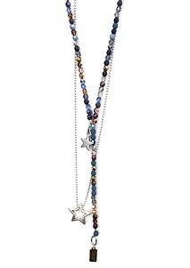 【送料無料】イタリアン ブレスレット チェーンガラスチェーンヘキシルチェーンビーズcatene 2x, ycatena tonalit di blu, di vetro perle amp; esile catena perle metallo