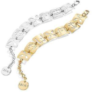 【送料無料】イタリアン ブレスレット シルバーゴールドミシンファンタジーカフリュージョーログインbracciale donna liu jo in ottone silver o pvd oro fantasie forate logato