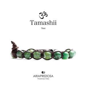 【送料無料】イタリアン ブレスレット カフチベットグリーンストライプtamashii bracciale tibet etno monaci buddhisti agata verde striata bhs900140