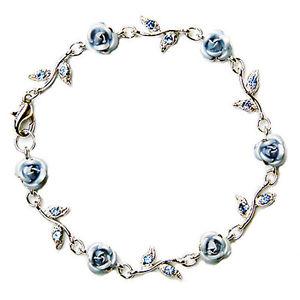 【送料無料】イタリアン ブレスレット スワロフスキークリスタルピンクカフw swarovski cristallo ~ azzurro fiore rosa ~ floreale sposa matrimonio bracciale