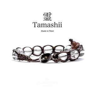 【送料無料】イタリアン ブレスレット カフチベットロッカtamashii bracciale tibet etno anima monaci buddhisti cristallo quarzo di rocca