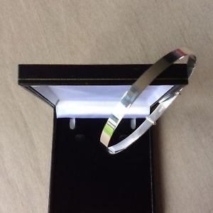 【送料無料】イタリアン ブレスレット ソリッドスターリングシルバーブレスレット5mm solido argento sterling lucido extra donna in espansione braccialetto