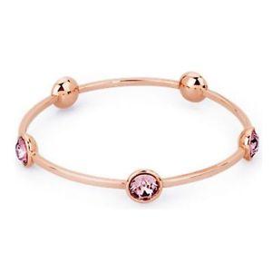 【送料無料】イタリアン ブレスレット カフスチールピンクピンクbracciale donna brosway btring btn28 in acciaio pvd rosato e cristalli rosa
